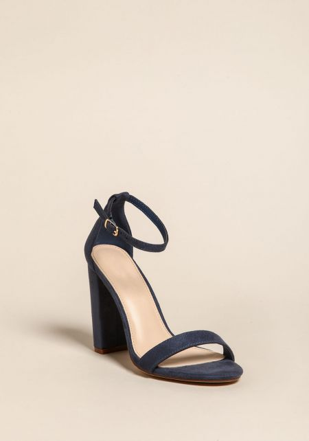 Moonlight Ankle Strap Block Heels