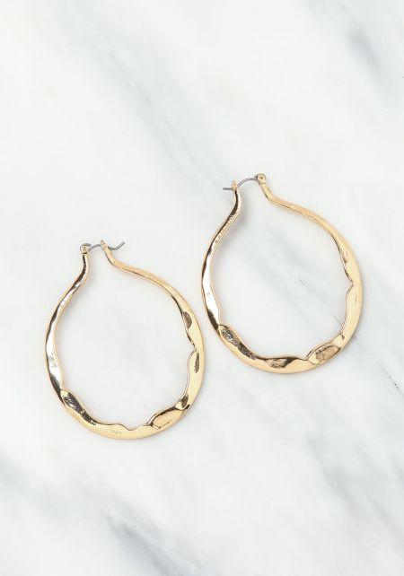 Gold Swirl Hoop Earrings