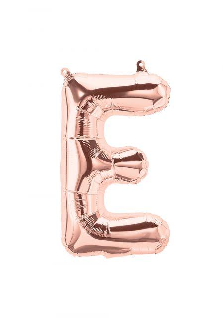 E Rose Gold Foil Balloon