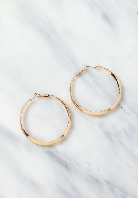 Gold Thick Hoop Earrings
