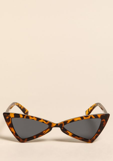 Leopard Geometric Cat Eye Sunglasses