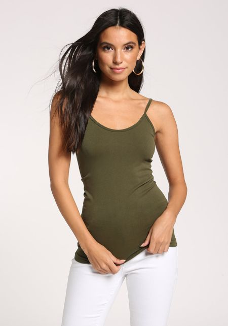 Olive Seamless Cami Tank Top