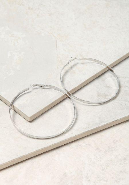 Silver Classic Hoop Earrings
