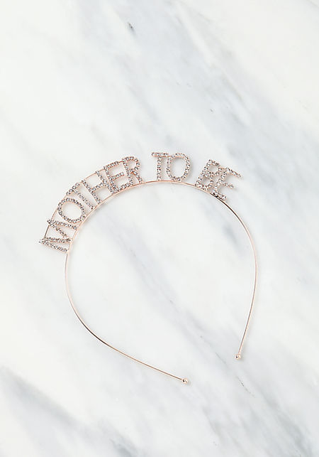 Rose Gold Mother To Be Rhinestone Headband