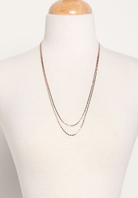 Rose Gold Two In One Layered Belly Chain & Necklac