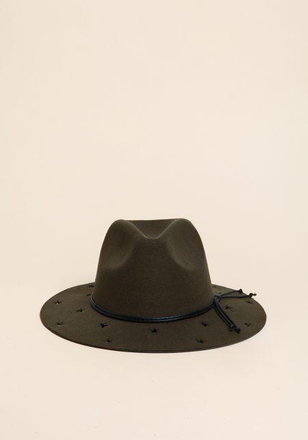 Olive Star Laser Cut Floppy Hat