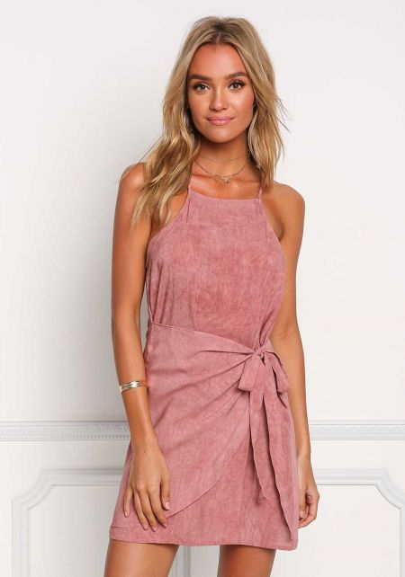 Mauve Vintage Wash Layered Shift Dress