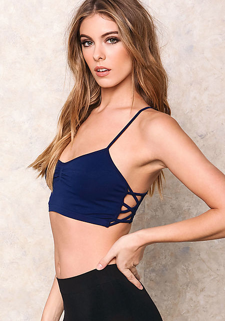Navy Active Cami X Sports Bra