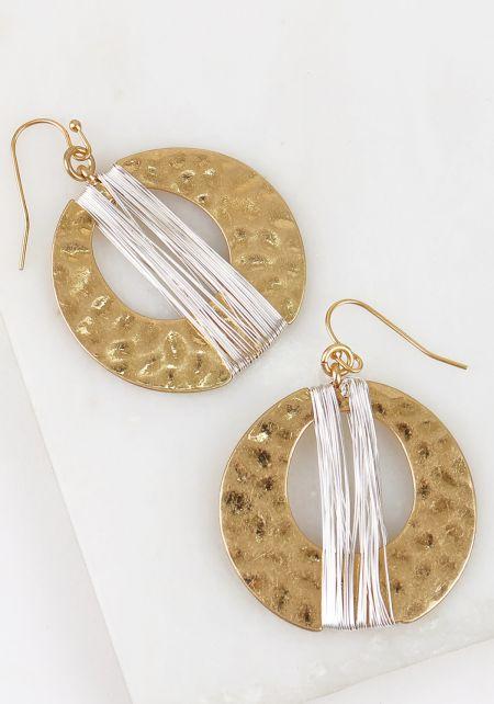 Gold Textured Mini Hoop Earrings