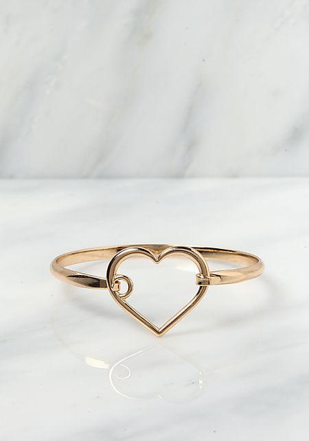 Gold Heart Cut Out Bracelet