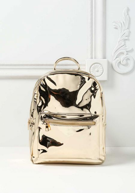 Gold Chrome Backpack