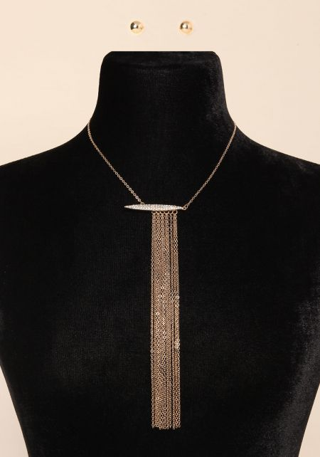 Gold Fringe Chain Necklace