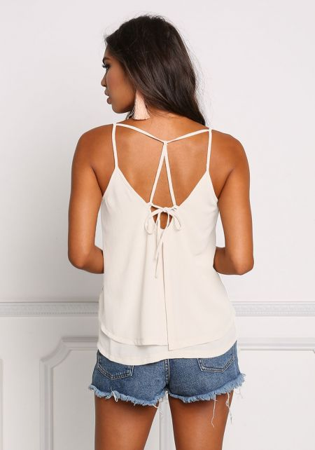 Ivory Layered Multi Strap Tank Top