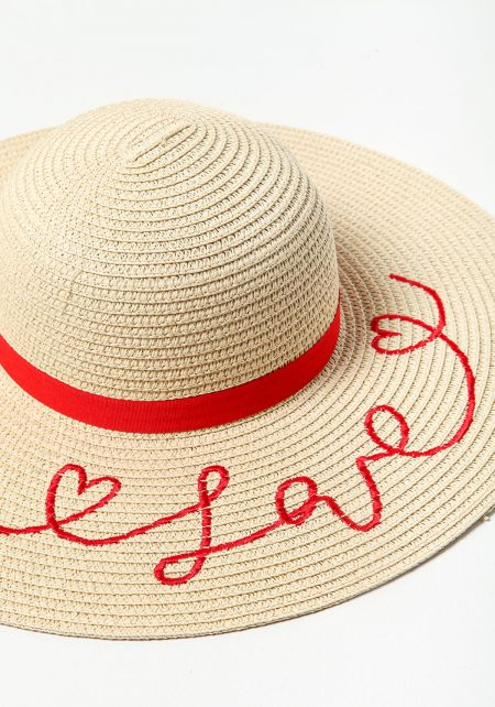 Natural Love Straw Hat
