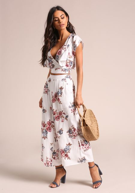 Floral High Rise Palazzo Pants