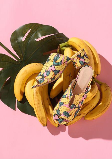 Pink Banana Mule Sandals