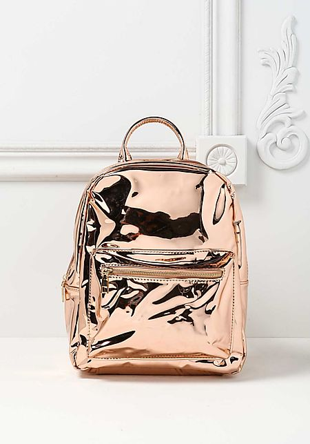Rose Gold Chrome Backpack