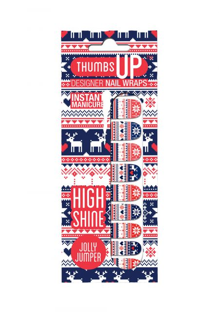 Jolly Jumper Nail Wrap by Thumbs Up UK