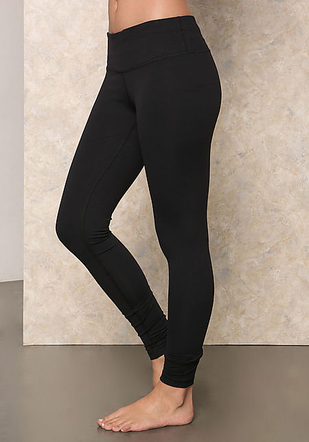 Black Low Rise Yoga Pants
