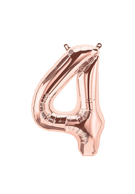No. 4 Rose Gold Foil Balloon
