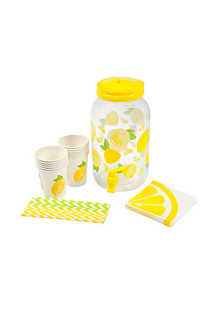 Sunnylife Lemon Drink Dispenser Party Kit