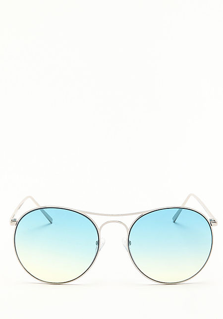 Zero UV Blue Oversize Gradient Sunglasses