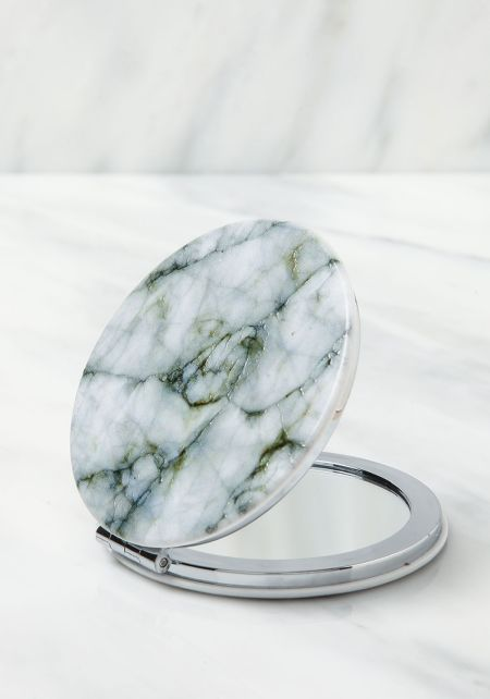 Olive Marble Compact Mirror
