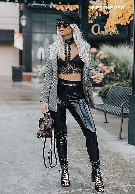 Black Floral Lace Choker Bralette