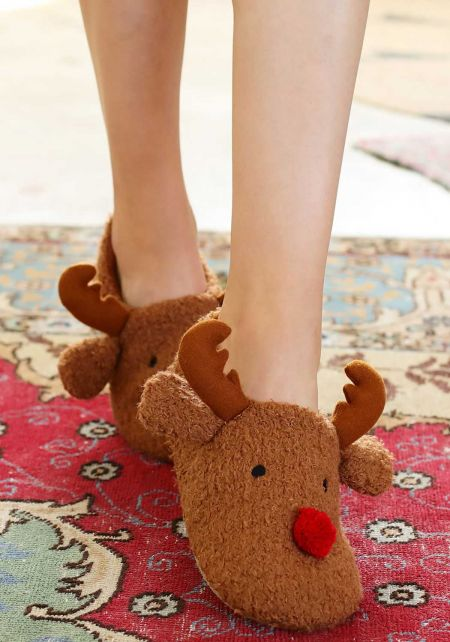 Reindeer Soft Slippers