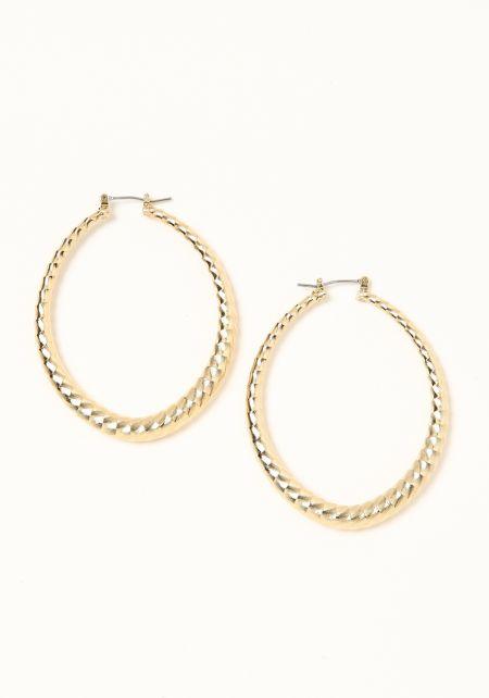 Gold Mini Swirl Teardrop Earrings