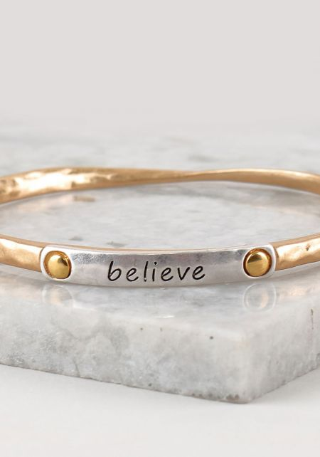 Gold Believe Bracelet