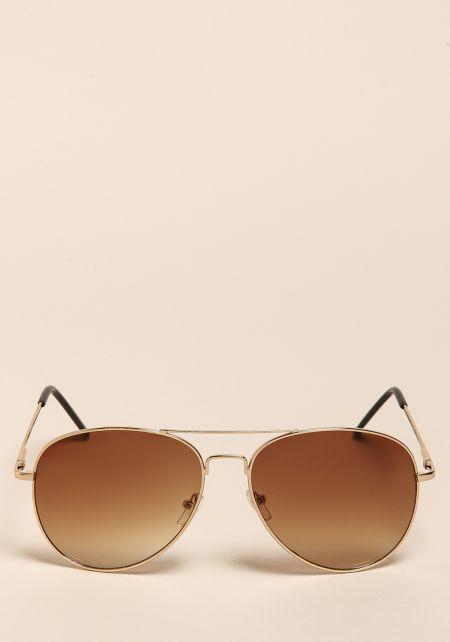 Gold Gradient Top Bar Sunglasses