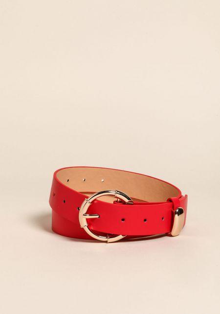 Red Leatherette Belt