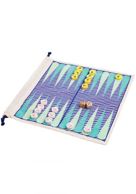 SunnyLife Travel Backgammon & Checkers