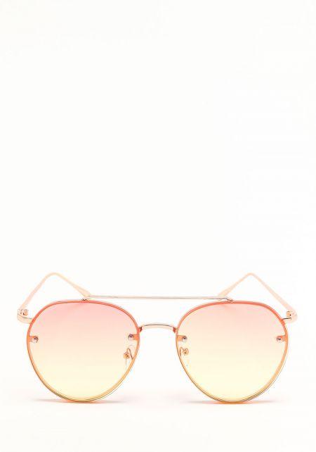 Yellow Gradient Aviator Sunglasses