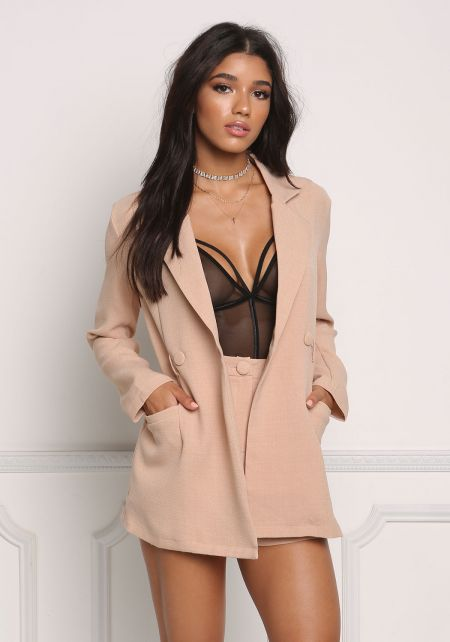 Sand Two In One Blazer Romper