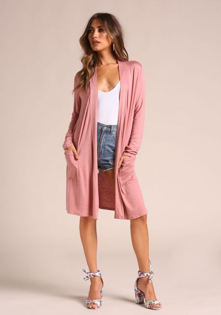 Rose Longlined Knit Cardigan