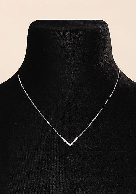 Silver Delicate Rhinestone Necklace