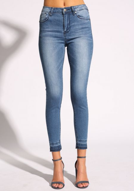 Medium Denim Ankle Skinny Jeans