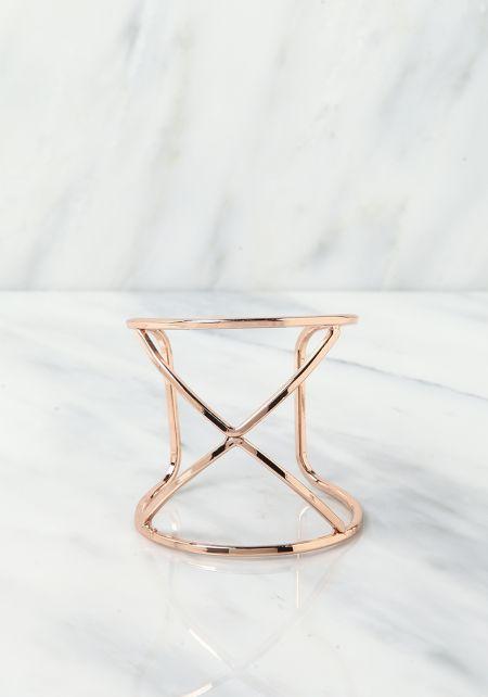 Rose Gold X Cuff Bracelet