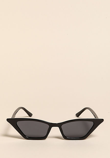Black Sharp Cat Eye Sunglasses
