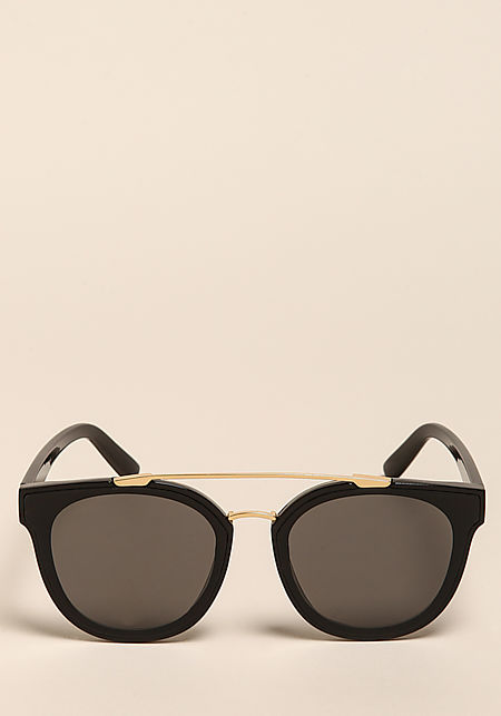 Black Wayfarer Top Bar Sunglasses