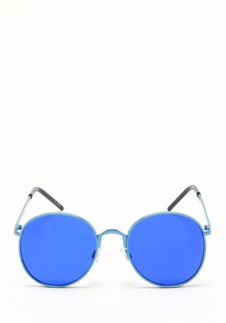 Zero UV Blue Round Aviator Sunglasses