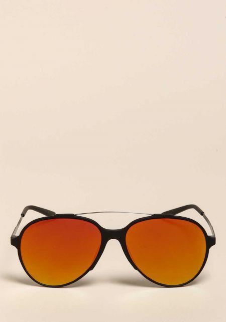 Gold Aviator Bar Sunglasses