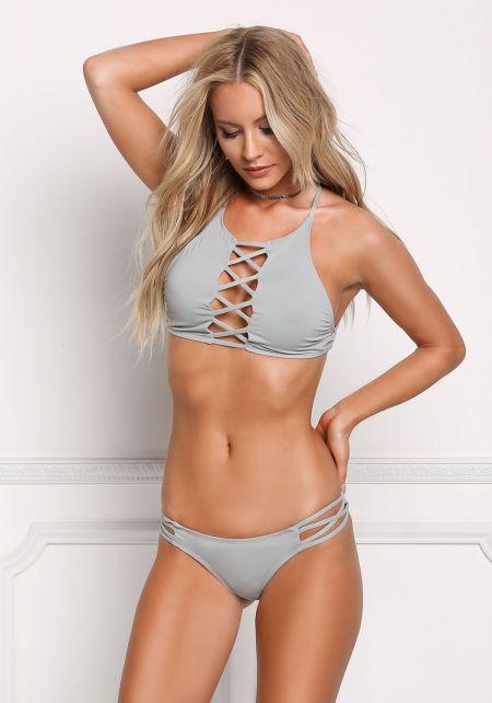 Stone X Strap Low Rise Swimsuit Bikini Bottoms