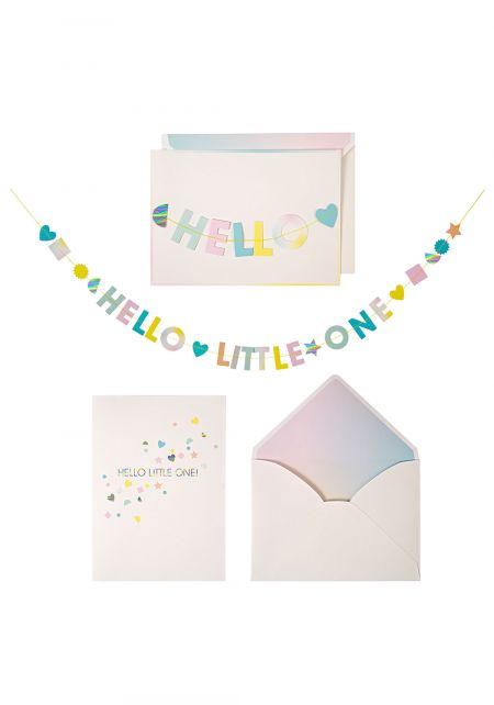 Hello Little One Card with Banner