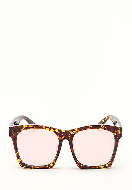 Zero UV Pink Tortoise Mirrored Sunglasses