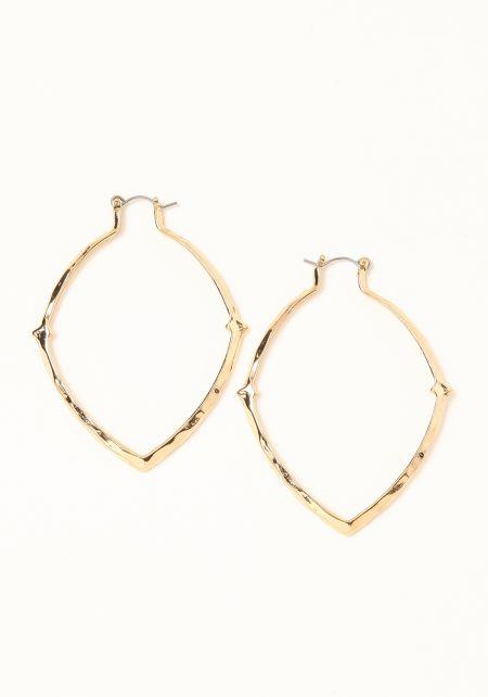 Gold Pointed Teardrop Earrings