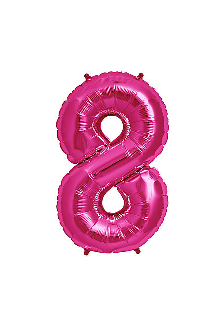No. 8 Xtra Large Magenta Foil Balloon