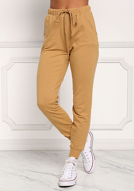 Mustard Drawstring Pocket Jogger Pants